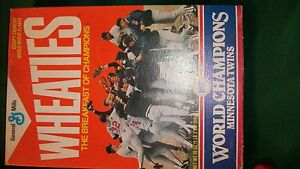 1987 World Series Champions Wheaties Box Minnesota Twins (Full or flat sell opt)