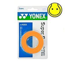 ORANGE Yonex Super Grap Overgrip - 3 Pack - Tennis Grip, Badminton AC102EX