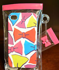 BATH BODY WORKS IPHONE 4 CASE COVER CUTE BOW PINK HARD JEWEL PLUG PLASTIC 4S NEW