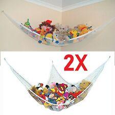 2 x Large Soft Toy Hammock Mesh Net Teddy Bear Keep Baby Bedroom Nursery Tidy