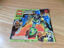 Lego 8189 Power Miners Instruction Book Manual legos