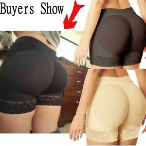 Women Padded Bum Enhancer Shaper Panty Butt Lifter Booty Boyshorts Underwear UK