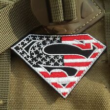 SUPER MAN SUPER HERO US FLAG MORALE MILSPEC AIRSOFT TACTICAL  PATCH/V4
