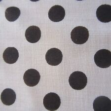 50cm x 90cm Black Spot Polkadot Vintage Cotton Sewing Fabric 1960s Retro New