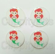 "4 x 1"" Inch 25mm Bottle Cap Images Cabochons Resins Epoxy Dome Mermaid Caps"
