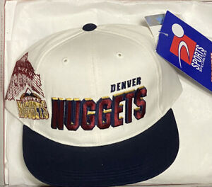 NWT YOUTH Vintage 90s Denver Nuggets Sports Specialties Script Snapback Hat Cap