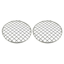 New listing Lots 2 Stainless Steel BBQ Grill Mesh Mat Camping Barbecue Mesh Net Round