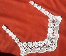 Applikation Spitzenbesatz für Dekoltee Point Lace WEISS Art Nouveau шнурок lace