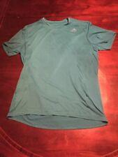 "Adidas Teal Men's Medium Loose ""Energy Running� Athletic Shirt. Tl8"