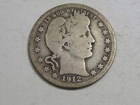 1912-s Better Date Barber Quarter.  #75