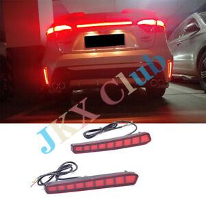 2pcs Rear Fog Lamp Bumper LED Brake Light h fit for Toyota Corolla Sedan 2019 20