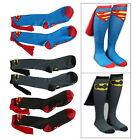Super Hero Superman Batman Knee High With Cape Soccer Cosplay Socks New