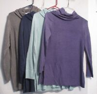 NEW Adrienne Vittadini Women's Cowl Neck Tunic Sweater - Choose Size & Color.