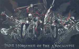 IRON HORSEMAN FLAG - SKULL AND PIRATE FLAGS - Size 5x3 Feet