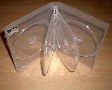 20 DVD Hüllen Case 6fach 6er durchsichtig transparent DVDhülle f.6 DVDs 21mm Neu