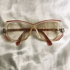 Cazal Vintage Eyeglasses Women Authentic Model 193 Gold Pink & White