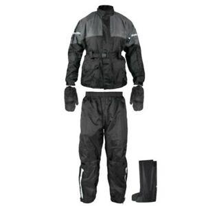 Traje Anti Lluvia Agua Impermeable Chaqueta Pantalones Cubierta Guante Bota Moto
