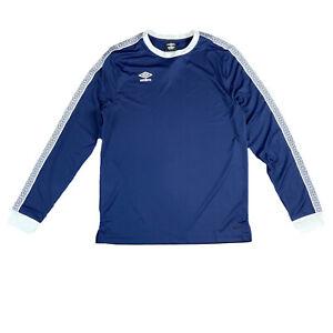 Umbro Blue Large Long Sleeve Shirt