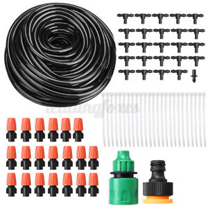 20m 78pcs Misting Spray System Patio Cooling Water Outdoor Evaporative Garden UK