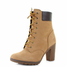 High (3 in. and Up) Leather Mid-Calf Boots for Women