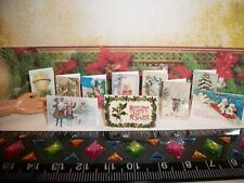 1:6 Scale New 10 Dollhouse Miniature Handcrafted Christmas Vintage Barbie Cards