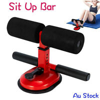 Sit Up Bar Suction Floor Exercise Stand Padded Ankle Support  Home Gym