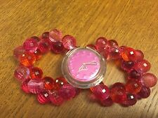 Pink POP Swatch Crystal Ball Bead style band