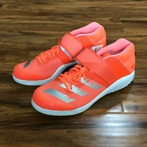 Adidas Adizero Javelin Track And Field Shoes w/ Spikes Orange EE4621 Men's 13