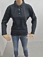 Maglia TOMMY HILFIGER Donna Taglia Size XL Maglietta Mesh Woman Cotone Nero 4844