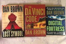 Dan Brown Lot: The Lost Symbol Da Vinci Code Digital Fortress HB 1st Edition