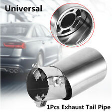 Fashion Stainless Steel 61mm Car Curved Round Exhaust Pipe Tip Tail Muffler Trim