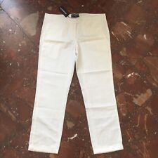 ann demeulemeester 100% Cotton White Pants, Size EUR42, Brand New With Tags