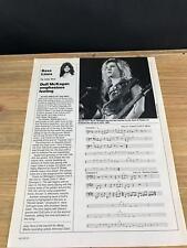 1989 VINTAGE 1PG PRINT ARTICLE BASS LINES GUITAR DUFF MCKAGAN GUNS N ROSES INTRO