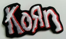KORN rare EMBROIDERED IRON-ON PATCH, 2.5x3.5 inches die cut