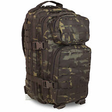 Mil-Tec Small Laser MOLLE Army Daysack Assault Pack Rucksack 20L Multicam Black