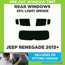 Pre Cut Window Tint - Jeep Renegade 2015 35% Light Rear