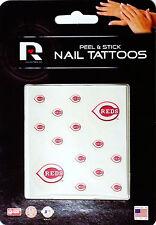 Cincinnati Reds Peel & Stick Nail Tattoos