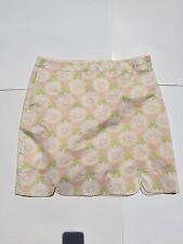 EP Pro NWOT stretch sz 8 golf skort White Yellow Floral skirt Skort