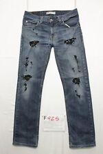 levis 511 schlank custom Wild Wildschwein verkürzt Jeans gebraucht Cod.F925