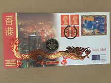 HONG KONG TRANSFER OF SOVEREIGNTY TO CHINA AND $5 COIN.