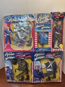 Mego Fire Rescue pack Action Jackson Doll US NAVY AUSSIE MARINE 3 Outfits MIP