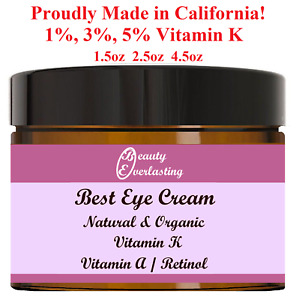 1% 3% 5% Vitamin K+Vitamin A/Retinol Eye Cream/Puffy,Wrinkles,Crow's feet/Serum