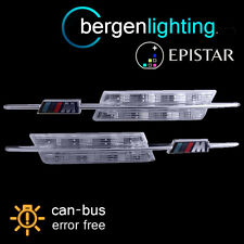 FOR BMW 5 SERIES E60 E61 2003-2010 CLEAR/AMBER LED SIDE REPEATER LAMPS