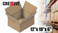 5 Corrugated Boxes 12x10x6 Shipping 32 ECT Packaging Brown Kraft Mailing 10 15