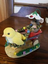 Charming Tails Chickie Chariot Ride 88/100 Mouse New In Box