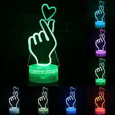 3D Lamp LED Night Light illusion Battery USB Touch Table Desk Lamps Kids Gifts