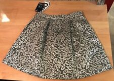 BEHNAZ SARAFPOUR for TARGET Metallic Silver Brocade Bubble Skirt Size 1 NWT