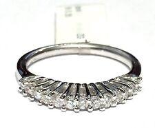 anello veretta in oro bianco 18 kt con 13 diamanti ct 0,35 G VS n 14  gr 3,70