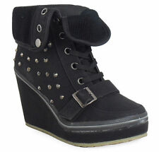 Women's Wedge Lace Up Boots