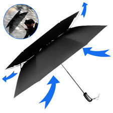Men's Business Use Automatic Open Close Windproof Anti-UV Double Canopy Umbrella